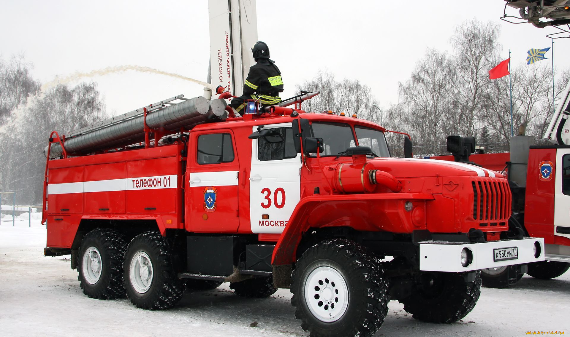 Автомобили пожарные машины обои для
